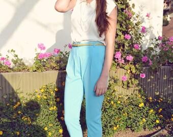 Pastel colors high waist pants