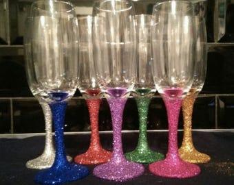 Glitter Champagne Flutes