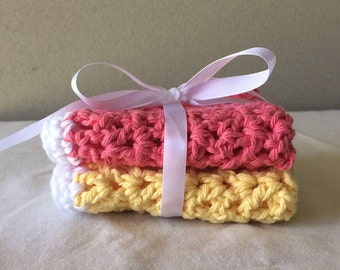 Handmade Cotton Dishcloth/Washcloth Set