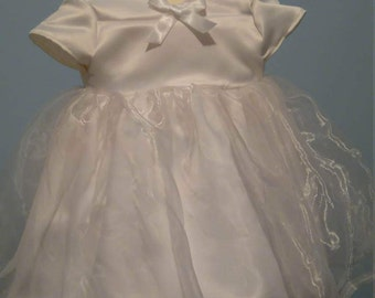 Little girls christen dress
