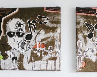 Street art print from Hamburg