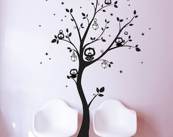 Wall decals wall sticker OWL tree OWL tree M943