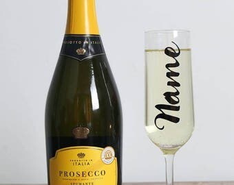 Personalised Champagne Flute, Custom Prosecco Glass, Personalised Gift, Your Name Champagne Glass, Bridesmaid Gift, Bridal Party Present