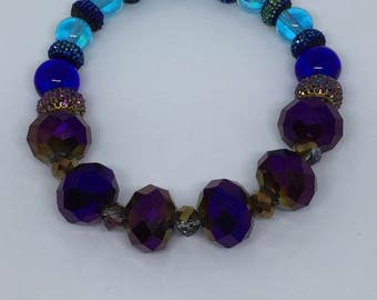 Purple and Blue Bracelet