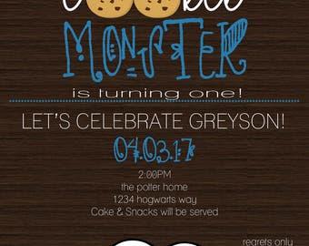 Cookie Monster Invitation DIGITAL File