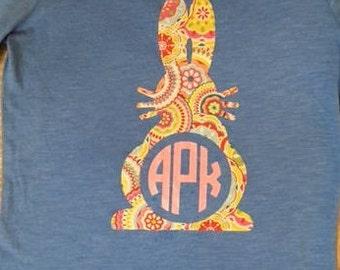 Spring Bunny Monogram