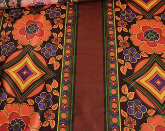 Psychedelic dress fabric by the metre, cotton fabric, psychedelic clothing, skirt fabric