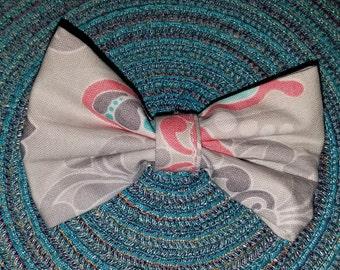 Fabric Hair Bow Clip