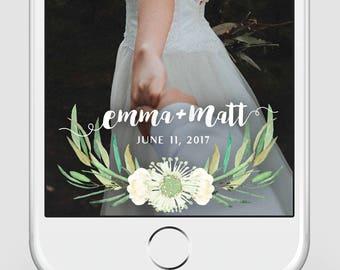 Custom Snapchat Geofilter | Wedding Snapchat Geofilter | Greenery | Snapchat Filter