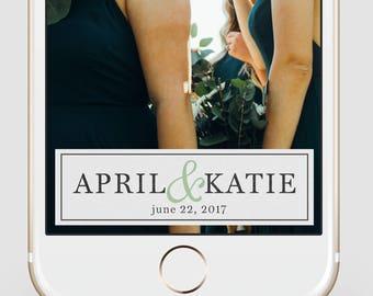 Wedding Snapchat Geofilter | Simple Serif + Paper Snapchat Geofilter | Custom Snapchat Filter