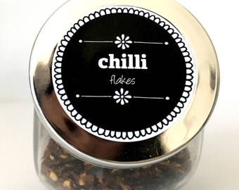 Spice jar labels - set of 96