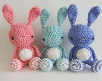 Rabbit plush toy, toy, Bunny, crochet, handmade, stuffed amigurumi, cute animals