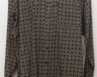 "90's Vintage ""CHAPS RALPH LAUREN"" Long-Sleeve Patterned Multicolor Shirt Sz: X-Large"