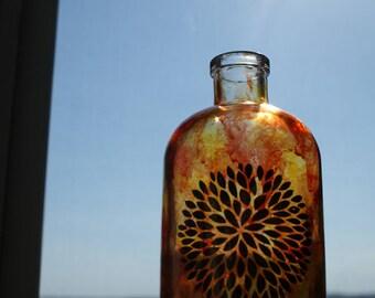 Mandala Home Decor, Mandala Bottle, Decorative Glass Bottle, Decorative  Bottle, Painted Glass Home Decor, Stained Glass Bottle