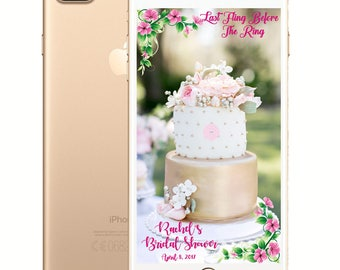 Floral Bridal Shower/Bachelorette Party Snapchat Filter