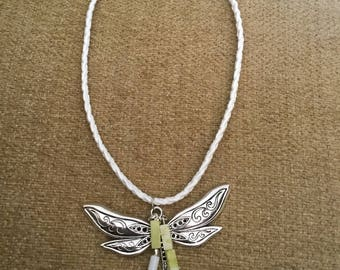 Dragonfly whimsical necklace