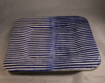 Striped Ceramic Plate