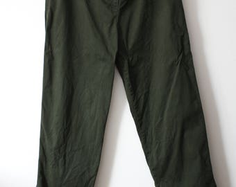 Vintage Army Green Ralph Lauren Polo Pants High Waisted Jeans 90s size 14 W32