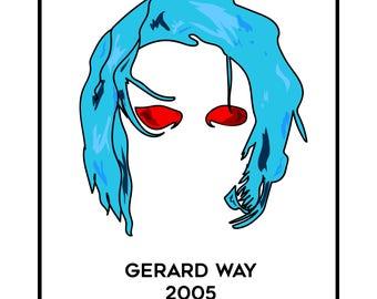 "Gerard Way ""Revenge Era"" Minimalist Hair Portrait"