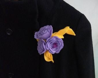 Brooch-flower from felt