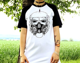 Gas mask baseball shirt