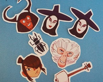 Kubo and the 2 Strings Sticker Set