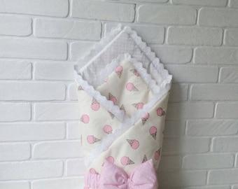 baby blanket, newborn baby blanket, baby shower girl gift, baby girl blanket, Baby Quilts Handmade