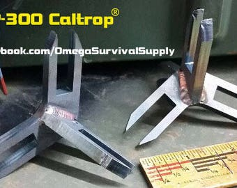 SP-300 Military Grade Caltrop AR500 Steel Tire Spike