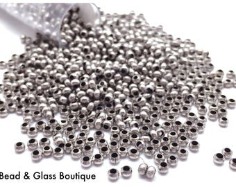 Heavy Metal Seed Bead, 11/0, Silver Oxide, approx 50 grams