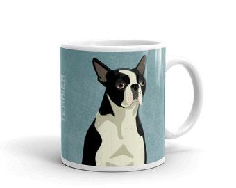 Dog Coffee Mug- Husband Gift- Boston Terrier Mug- Dog Mug- Dog Gift- for Dog Lover Gift for Him