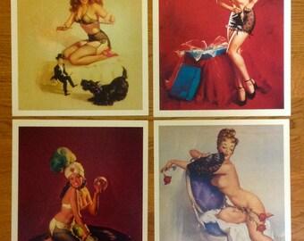 "FOUR different Elvgren pin-up prints, 8"" X 10"""