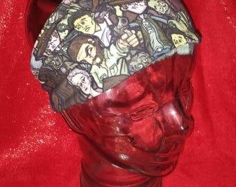 Walking Dead Print Cotton/Lycra Stretch Knit Scrunchy Wide Headband