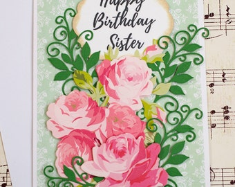 Sister Birthday Card, Sister in Law Card, Birthday Card for Sister, Birthday Card for Her, Birthday Gift For Her, Handmade Birthday Card
