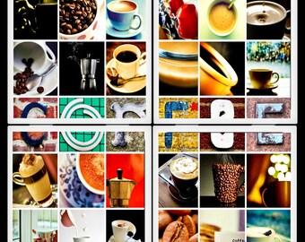 Coffee - Ceramic Coaster Set