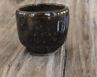 Miniature Pottery Bowl or Cup - Hand Thrown - High Fired