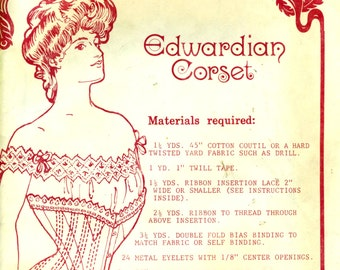 EDWARDIAN CORSET Past Patterns #106 Straight Fronted Sizes 10 - 20 ©1980
