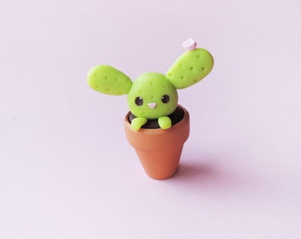 Cute Bunny Cactus Miniature Figure Collectible Decoration
