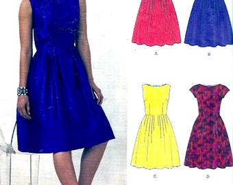 Party cocktail Dress modern fashion style sewing pattern New Look 6223 Size 8 to 18 Uncut