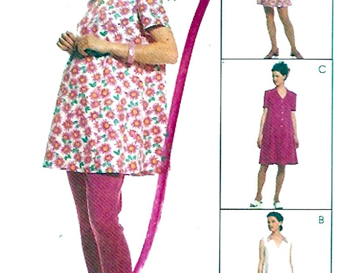Maternity top leggings dress sewing pattern McCalls 8811 Easy Sz 6 to 10 Pregnancy wardrobe UNCUT