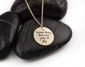 Given To Fly. Pearl Jam. Lyrics. Quotes. Typography. Music. Handwritten. Eddie Vedder. Pop Culture. 90s. Brass. Sterling Silver. Necklace.