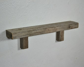 Rustic home decor display shelf from reclaimed wood 20 x  3.5 x 5