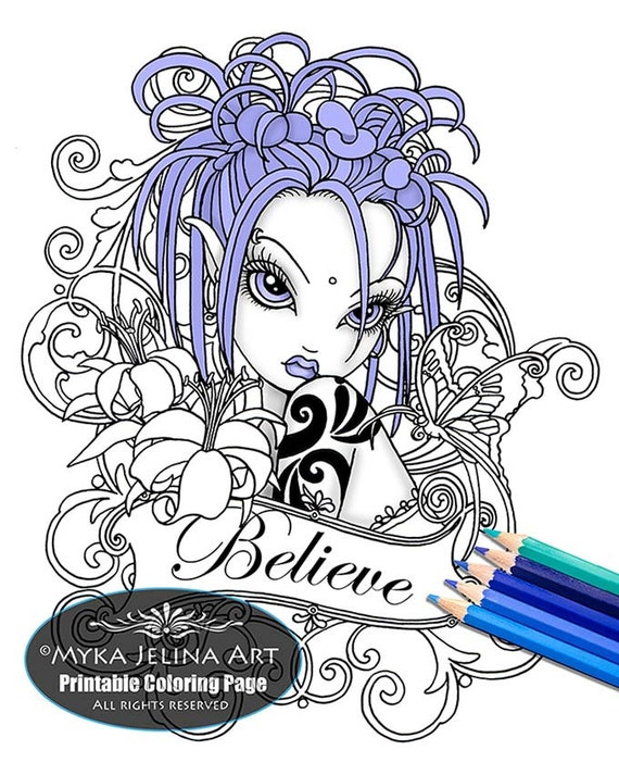Myka Jelina Art Coloring Pages