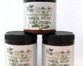 Oregon Grape Root and Golden Seal Herbal Relief Cream For Dry Itchy Skin