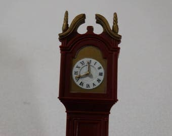 "Vintage Dollhouse MARX ""Little Hostess"" Dollhouse Grandfather Clock, Louis Marx & Co. Made in Hong Kong 1964"