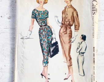 1950s dress pattern / McCall's 4392 / 50s wiggle dress / 1950s sewing pattern / bust 38""