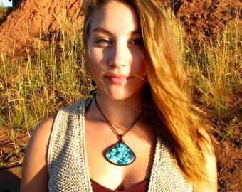 Azurite Necklace, Chrysocolla  Azurite Malachite, Macrame necklace, Healing Stones and Crystals, Malachite necklace