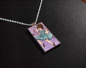 Alice's Adventures in Wonderland - Art Pendant - Red Roses
