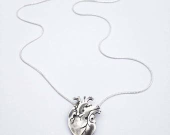 Anatomical Heart Sterling Silver Limited Edition Made to Order