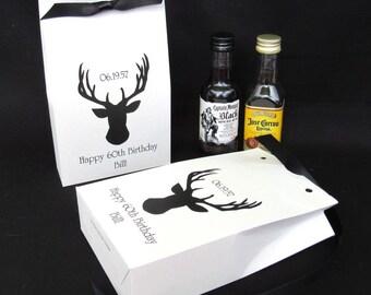 Men's Party Favors - Hunting Favors - Favor Boxes - Deer Head Favors - Deer Favors - Mens Birthday Favors - Deer Hunt Favors - Adult Party