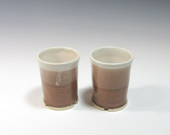 Tumblers - Ceramic Tumblers - Set of 2 Tumblers - Barware Set - Pottery Tumblers - Rocks cup - Wine cup - Whiskey Glass - Tea Mug